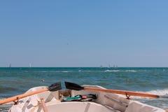 salvataggio della barca Fotografia Stock