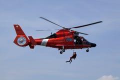 Salvataggio della guardia costiera Fotografia Stock