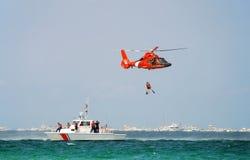 Salvataggio della guardia costiera Fotografie Stock Libere da Diritti