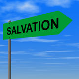 Salvation. Road to salvation Royalty Free Stock Image