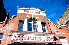 The salvation army home in London royalty free stock photography