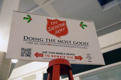 Salvation Army Christmas stock photography