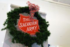 Salvation Army Christmas Stock Photo