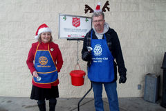 SALVATION ARMY COLLECTION CHARITY FOR CHRISTMAS Royalty Free Stock Photography
