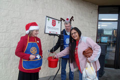 SALVATION ARMY COLLECTION CHARITY FOR CHRISTMAS Royalty Free Stock Photos