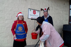 SALVATION ARMY COLLECTION CHARITY FOR CHRISTMAS Stock Image