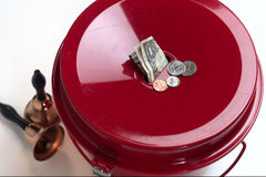 Salvation army collection plate Royalty Free Stock Image
