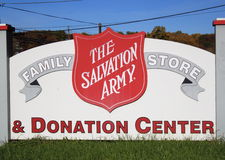 Salvation Army Donation Center Royalty Free Stock Photos