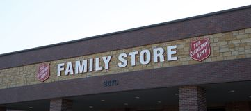 Salvation Army Family Store Sign Stock Image