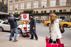 Salvation Army NYC Christmas Royalty Free Stock Photo
