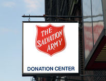 The salvation army sign. stock photography