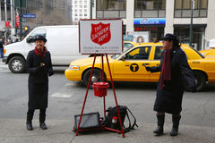 Salvation Army Soldier Performs For Collections Stock Photo