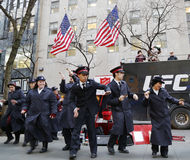 Salvation Army soldiers perform for collections in midtown Manhattan Royalty Free Stock Images