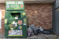 salvation army storage unit for shoes and clothes