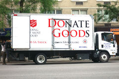 Salvation Army Truck Stock Photo