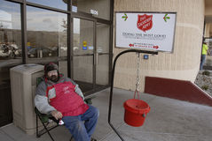 SALVATION ARMY WORKER Royalty Free Stock Images