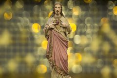 Jesus Christ Son of God - Salvation. Salvation is being saved or protected from harm or being saved or delivered from a dire situation. In christian religion Stock Images