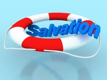 Salvation circle. Rescue circle with text salvation Stock Photos