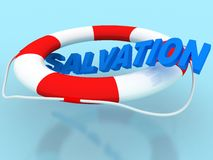 Salvation circle. Rescue circle with text salvation Stock Image