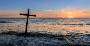 Salvation Cross Water Stock Photos