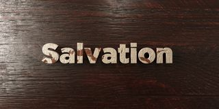 Salvation - grungy wooden headline on Maple  - 3D rendered royalty free stock image. This image can be used for an online website banner ad or a print postcard Royalty Free Stock Image