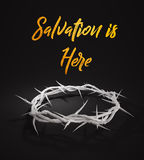 Salvation is Here Crown of Thorns 3D Rendering Dark Background. Digital Art Royalty Free Stock Images
