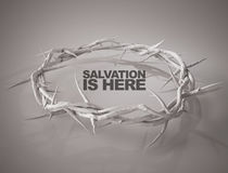 Salvation is Here Crown of Thorns 3D Rendering. Digital Art Stock Photo