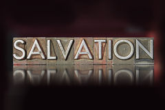 Salvation Letterpress Stock Photography