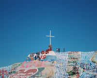 Salvation Mountain Art in slab city royalty free stock images