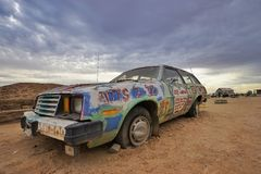 Salvation Mountain car Royalty Free Stock Images