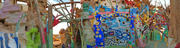 Salvation Mountain - Interior Details - Panorama Stock Image