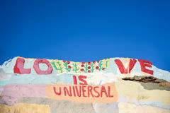 Salvation Mountain - Love is Universal stock images