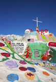 Salvation Mountain Mailbox. Salvation Mountain outsider art installation at Calipatria, in the Colorado Desert Royalty Free Stock Images
