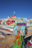 Salvation Mountain Mailbox. Salvation Mountain outsider art installation at Calipatria, in the Colorado Desert Royalty Free Stock Image