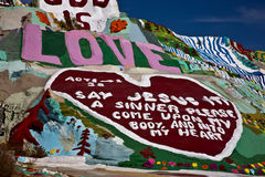 Salvation Mountain, Niland, California Stock Image