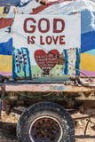 Salvation Mountain Outsider Art Installation Stock Photo