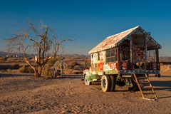 Salvation Mountain painted truck Royalty Free Stock Photography