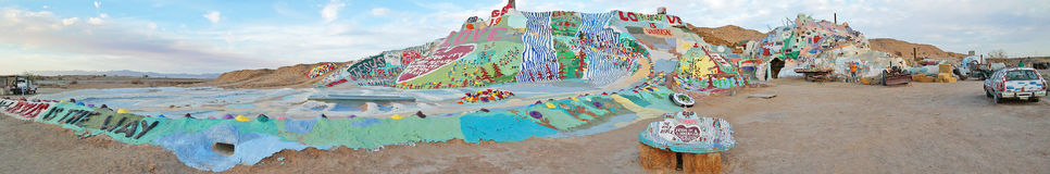 Salvation Mountain Panorama #3 Royalty Free Stock Image