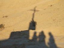Salvation Mountain shadows Royalty Free Stock Photo