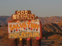 Salvation Mountain Signpost Stock Image