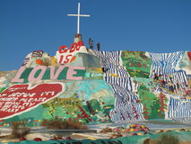 Salvation Mountain site Royalty Free Stock Photography