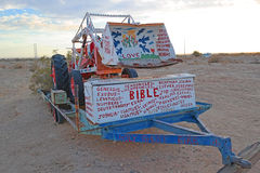 Salvation Mountain Tractor. An image of a tractor at the site of Salvation Mountain found East of Niland, California on the East side of the Salton Sea - A Stock Photos