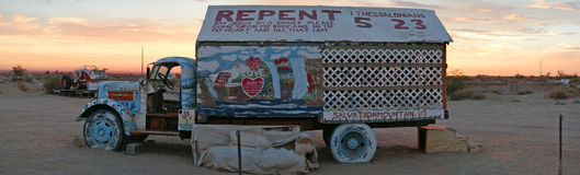Salvation Mountain Vehicle Stock Image