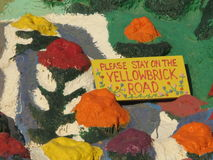 Salvation Mountain yellowbrick road Royalty Free Stock Photo