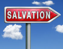 Salvation road sign arrow Royalty Free Stock Images