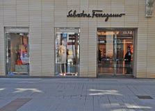 Salvatore Ferragamo-opslag in de stad van Wenen, Oostenrijk Royalty-vrije Stock Foto's