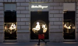 Salvatore Ferragamo shop Royalty Free Stock Photo