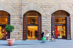 Salvatore Ferragamo shoppar i Florence Royaltyfri Fotografi