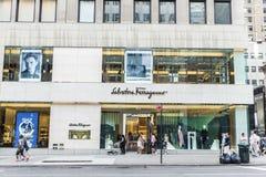 Salvatore Ferragamo sklep w Miasto Nowy Jork, usa zdjęcia royalty free
