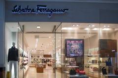 Salvatore Ferragamo sklepu przód zdjęcie stock